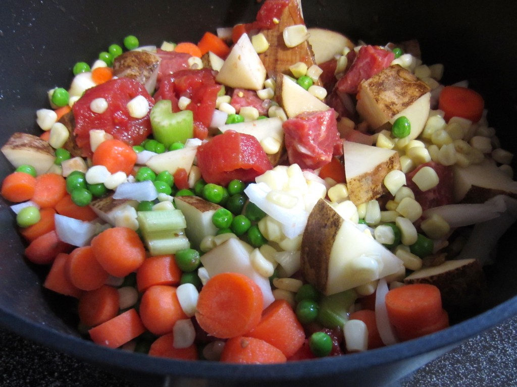 beef stew on stovetop
