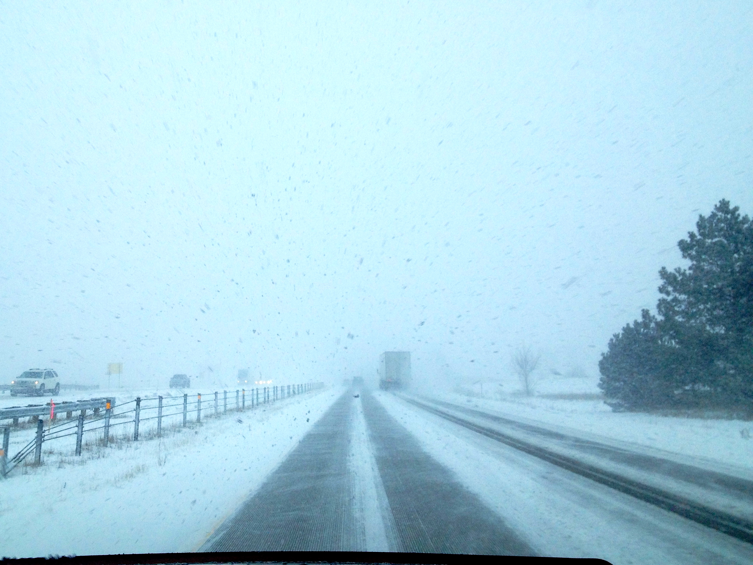 driving through snow storm