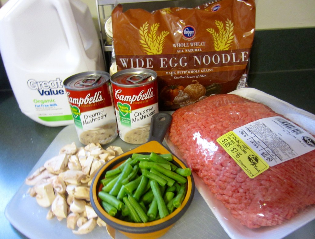 hamburger noodle casserole ingredients