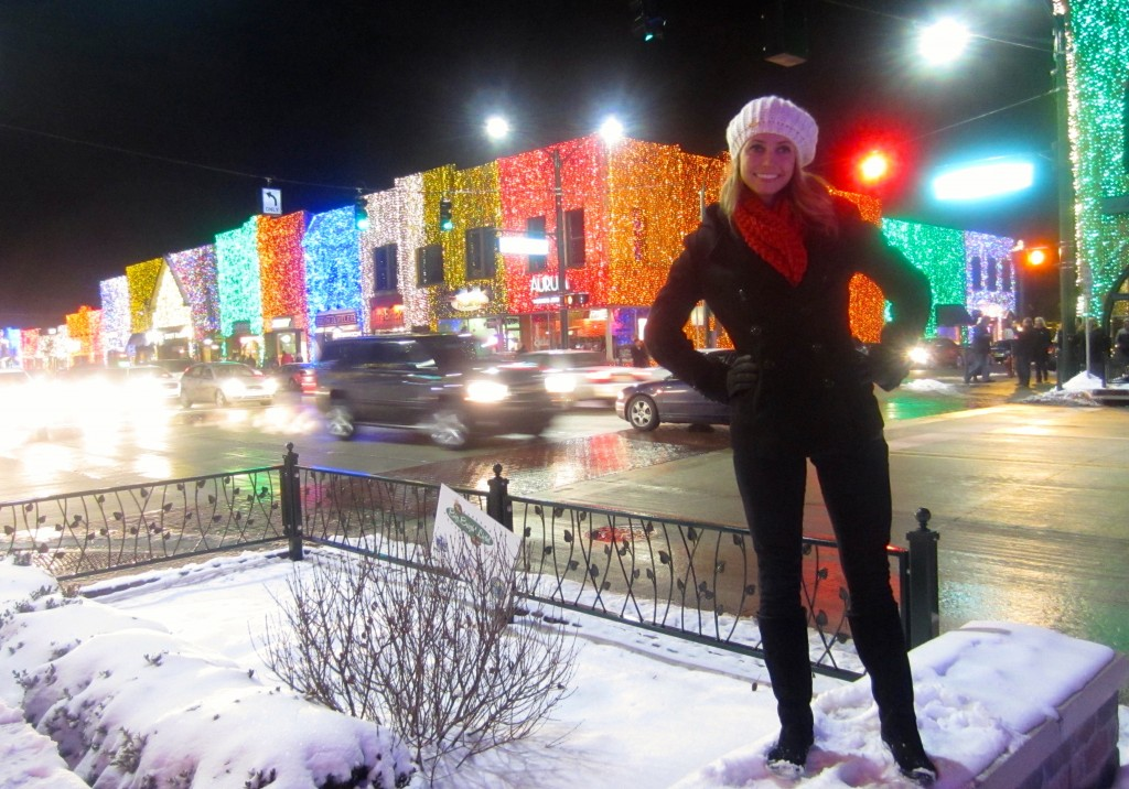 in front of the lights at christ