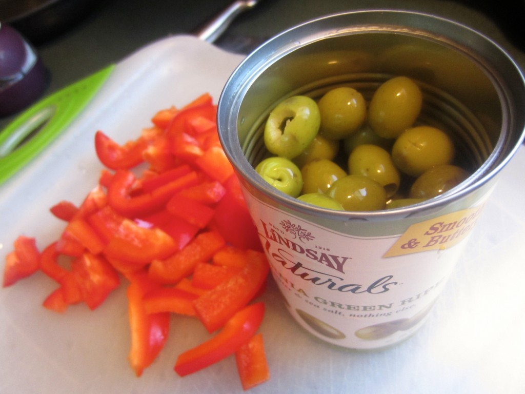 mediterranean pasta ingredie