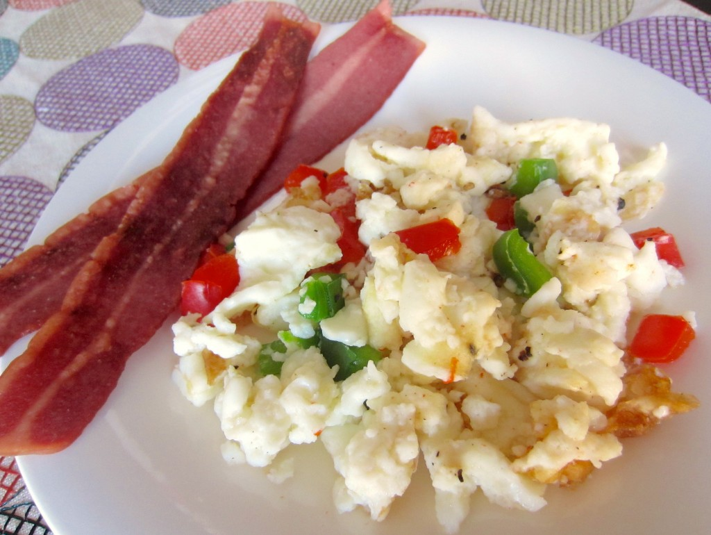 scrambled egg whites with peppers
