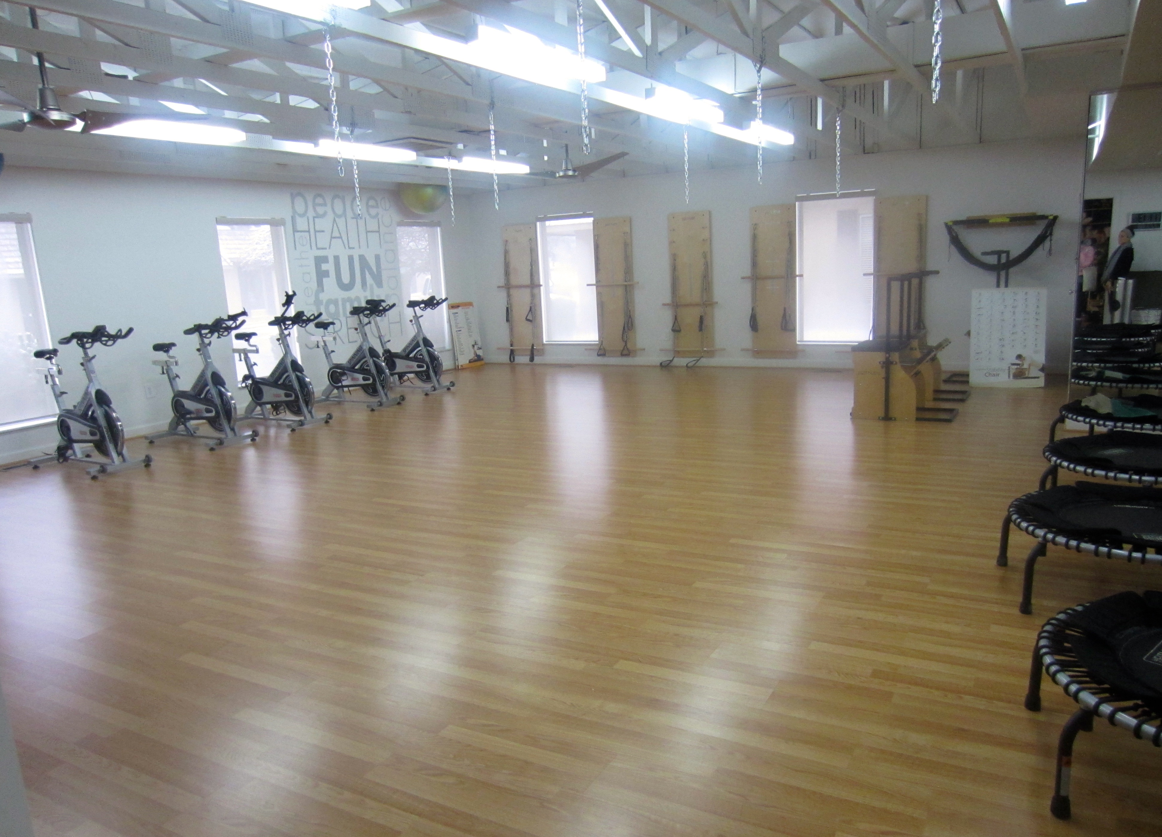 training room at pilates studio