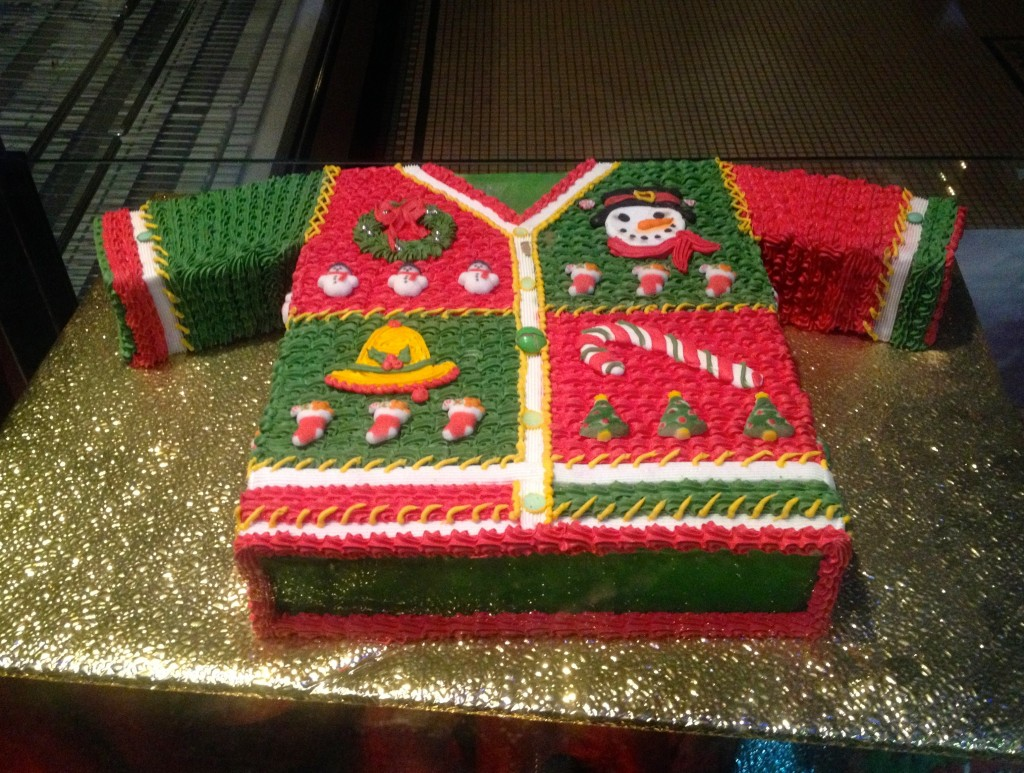 ugly christmas sweater cak