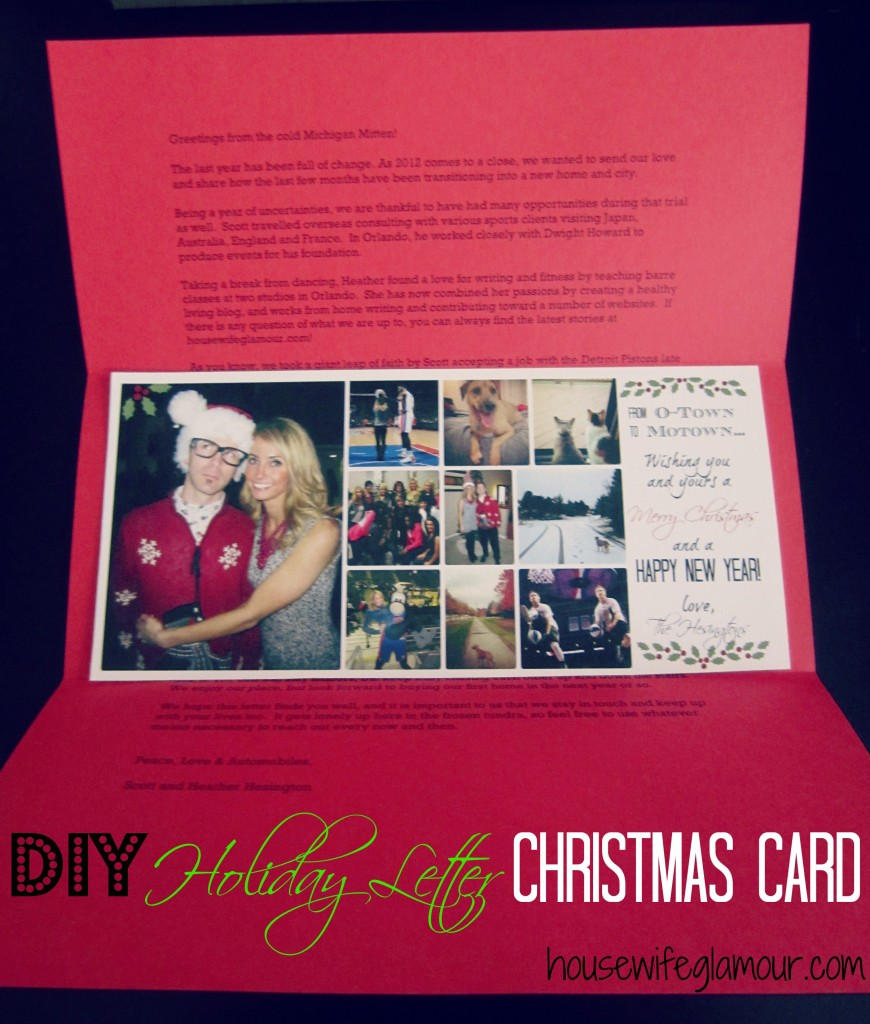 DIY Holiday Letter Christmas Card