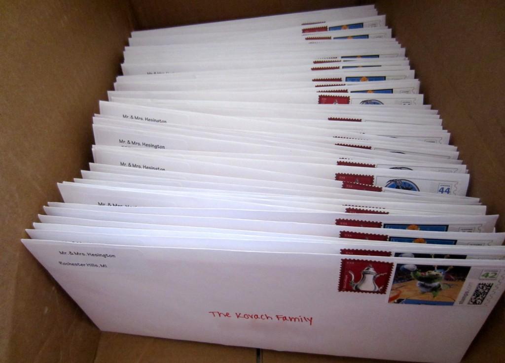 chrismas card stamps