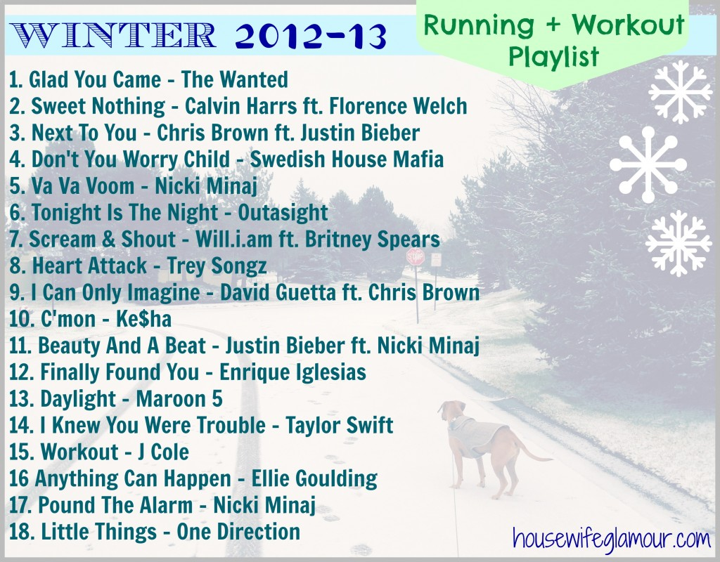 Winter Workout Playlist 2012-13