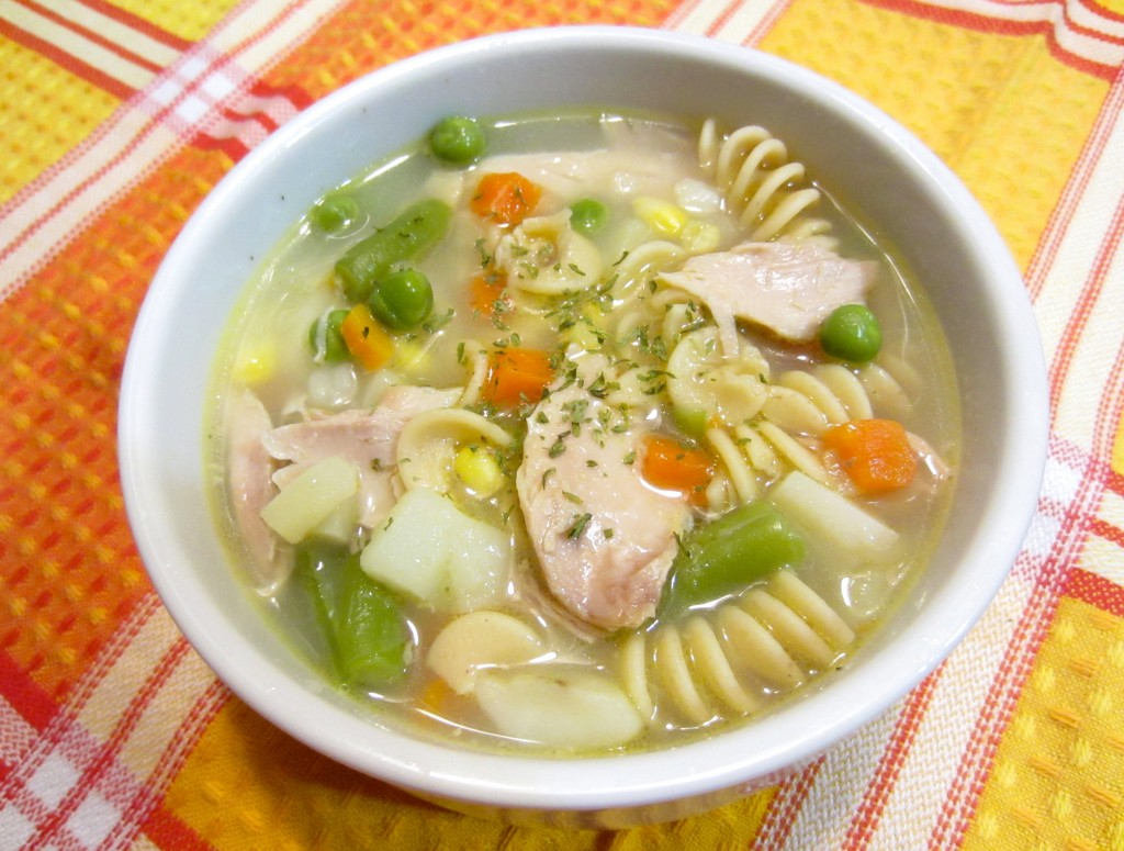 chicken and mixed vegetable soup