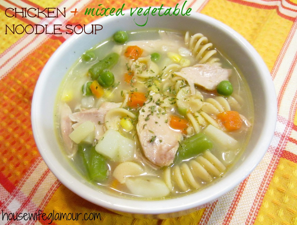 chicken and mixed vegetable s