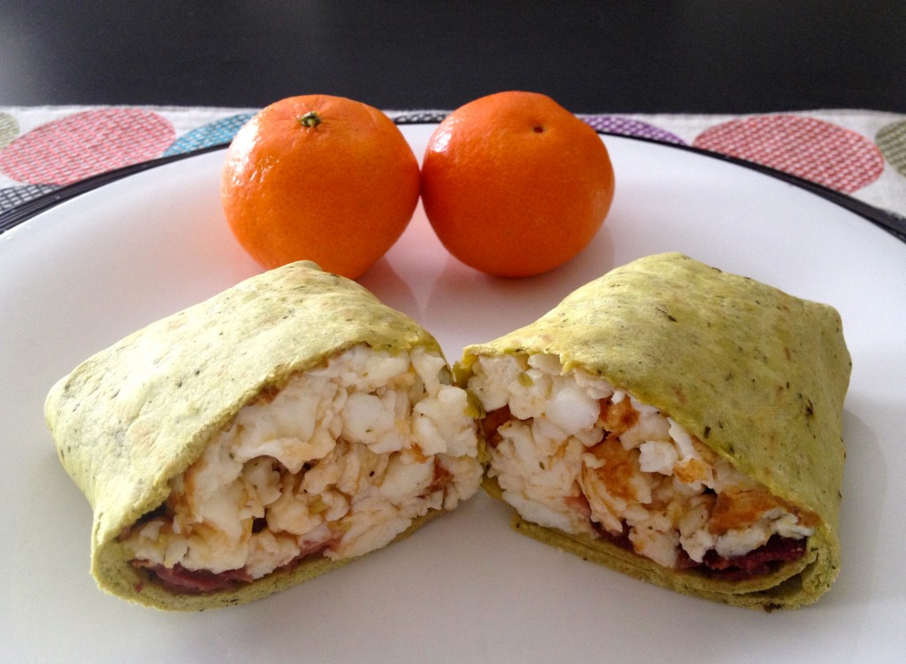 healthy breakfast wrap