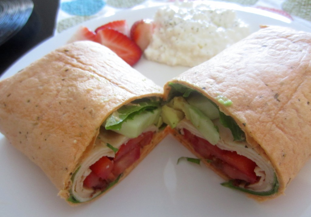 healthy lunch wrap