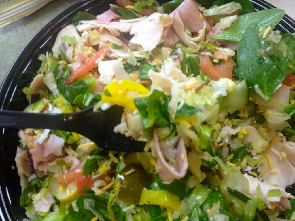 healthy subway salad