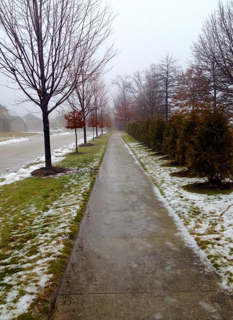neighborhood sidewalk