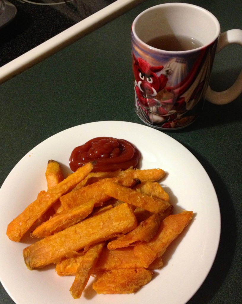 sweet potato fries for dinner