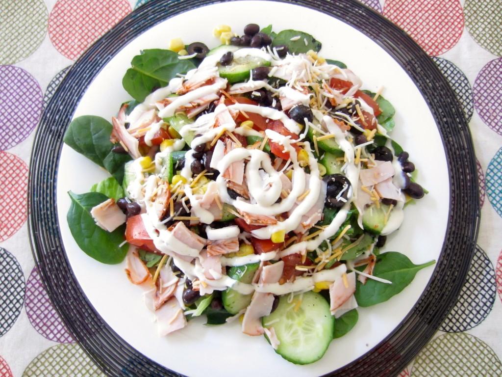 Healthy mexican turkey salad