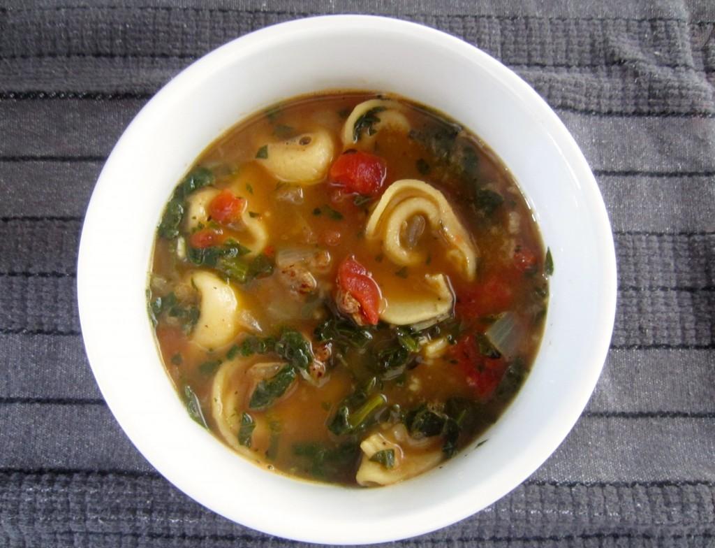 Italian chicken sausage tortellini soup