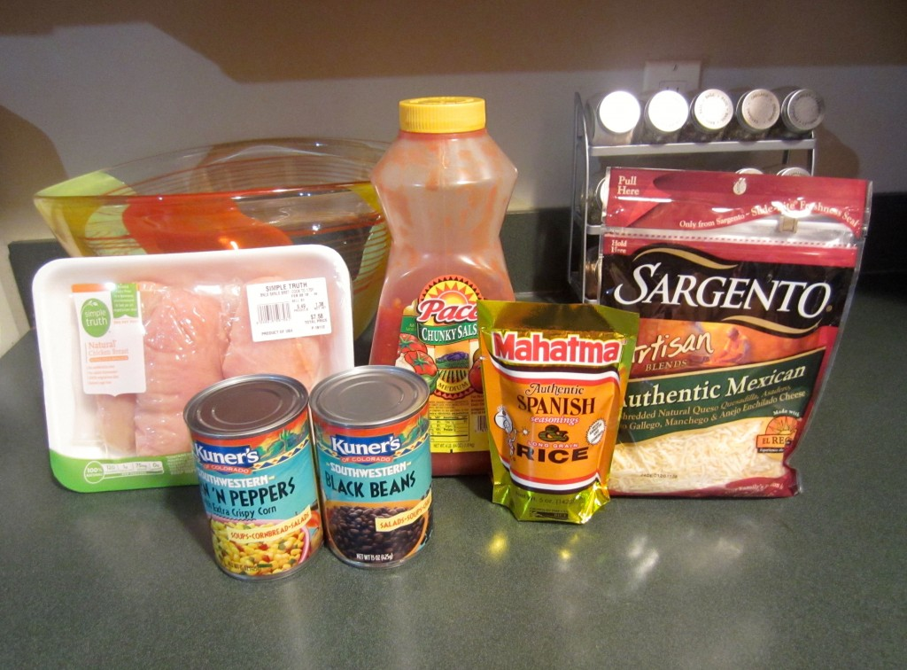Southwest Salsa Chicken Ingredients