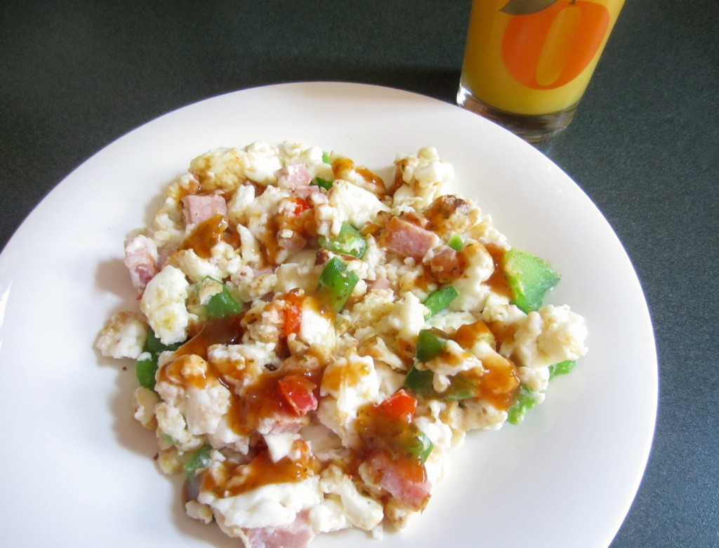 ham and pepper healthy scramble