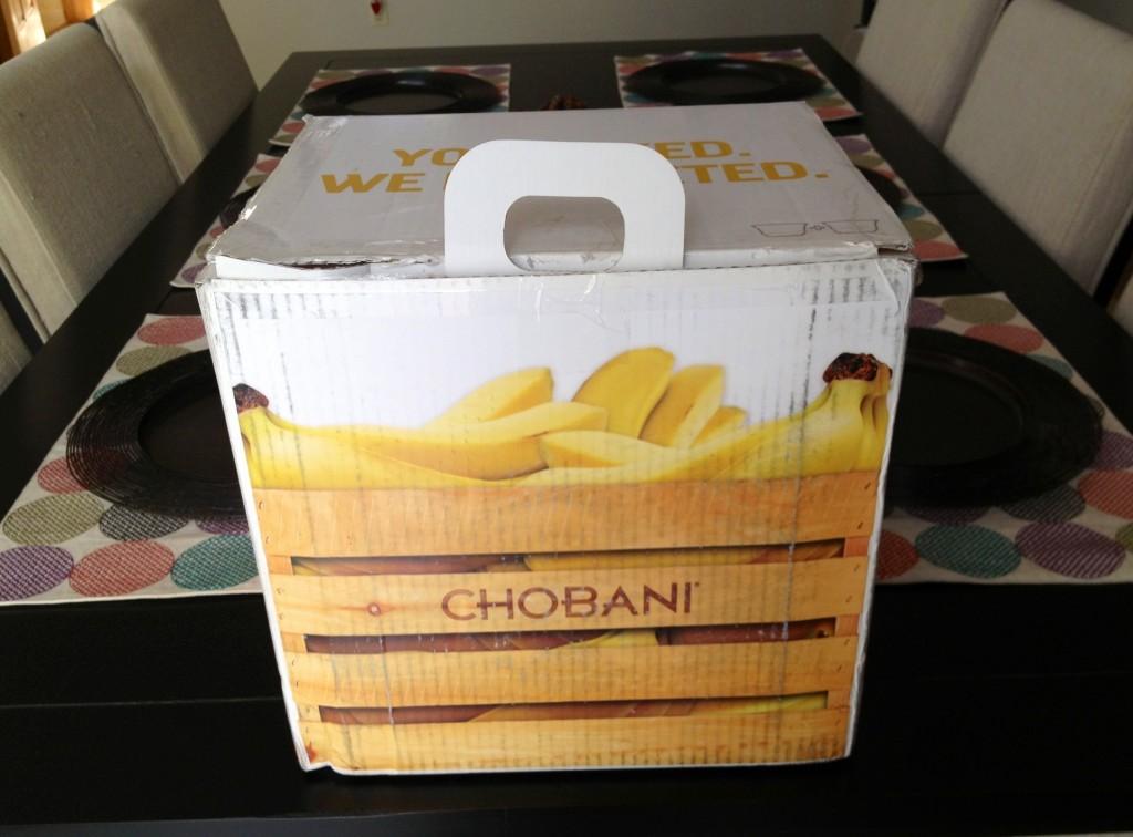 Chobani box