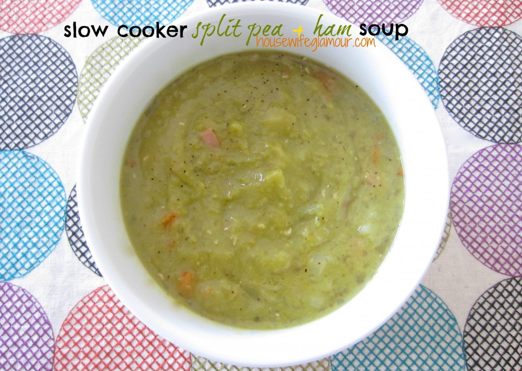 slow cooker split pea and ham