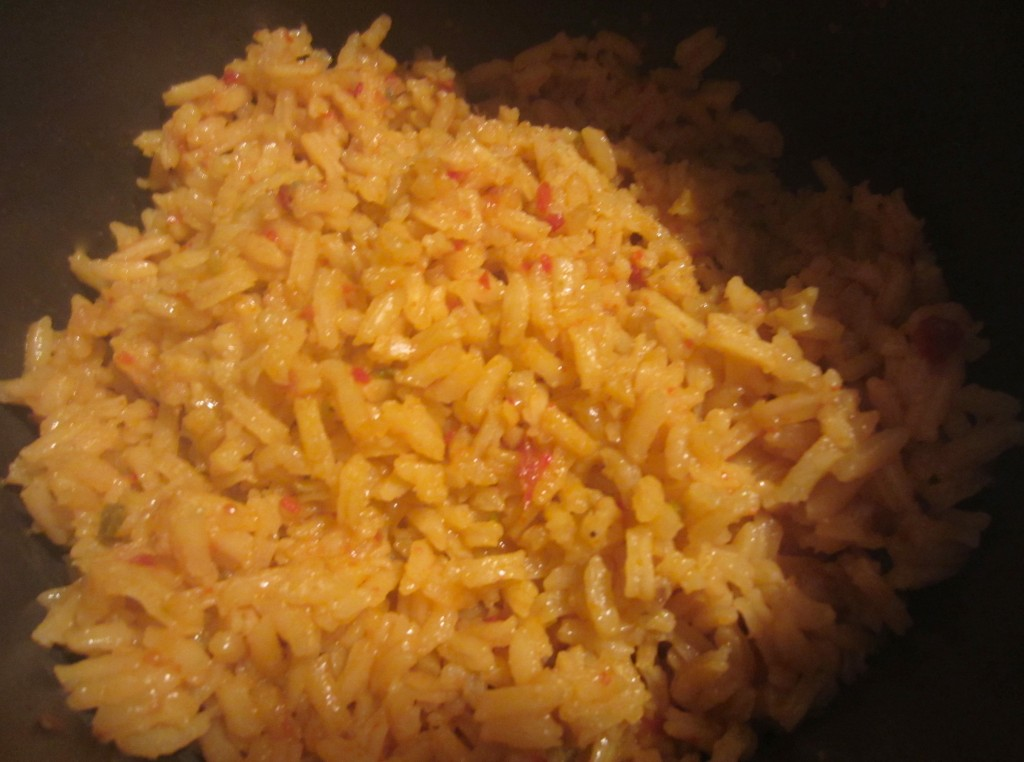spanish rice cooked