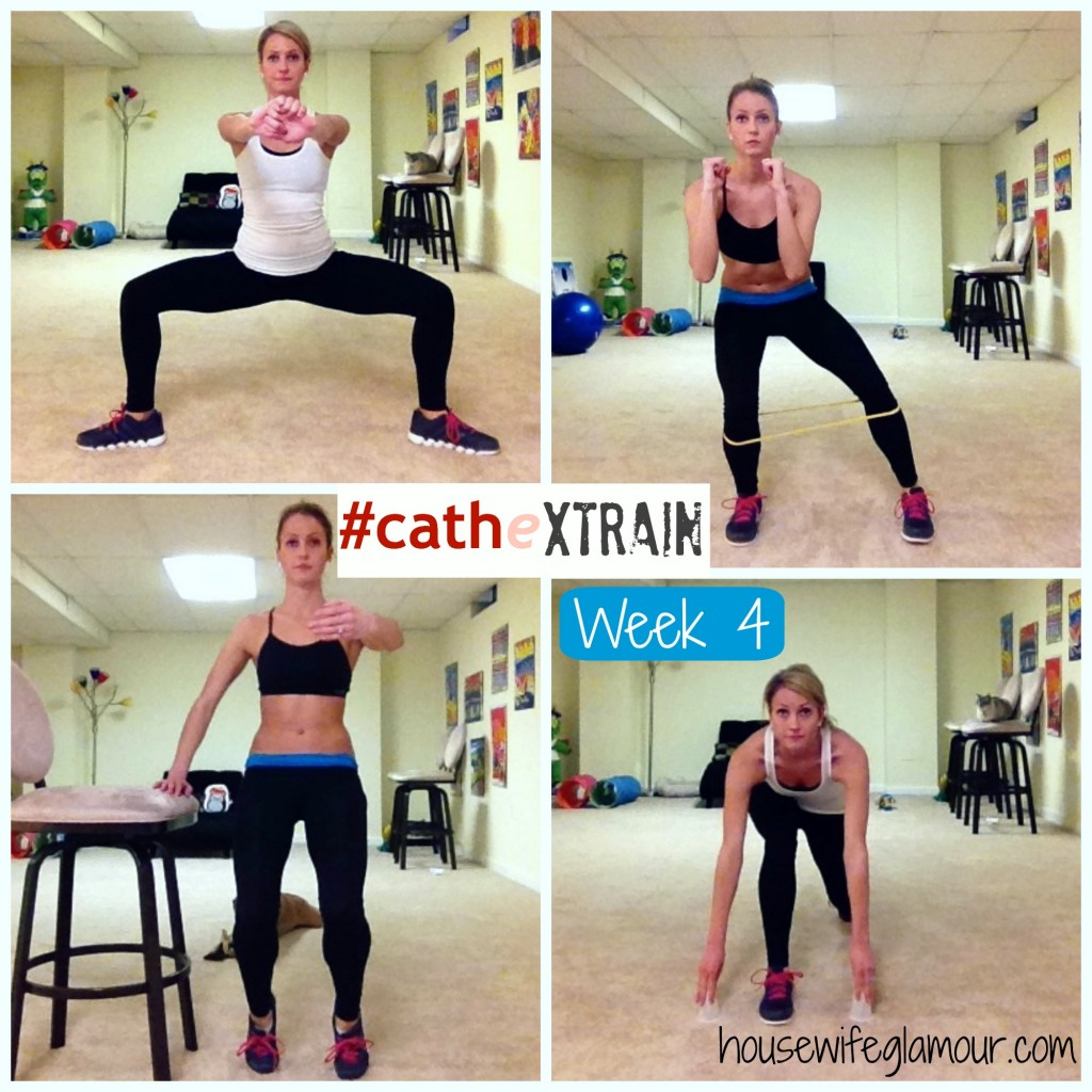 Cathe XTrain Week 4 Collage