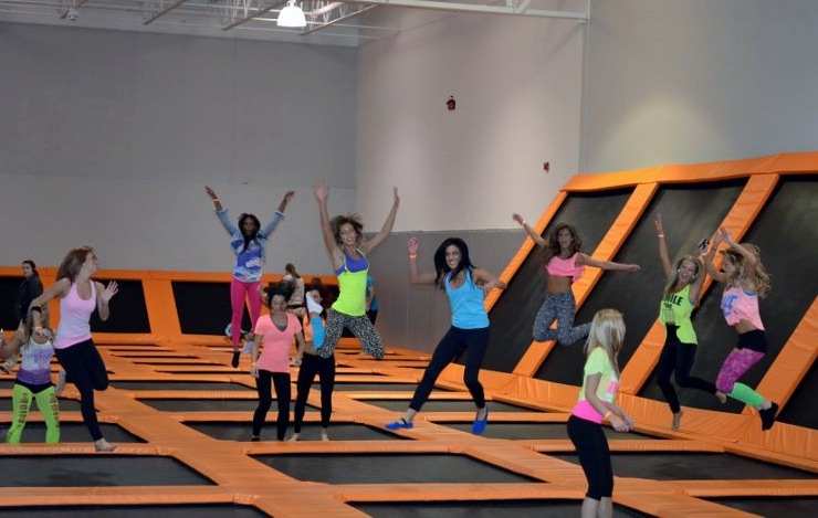 Dancers at AirTime Trampoline Park