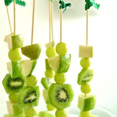 All Green Fruit Skewers - St. Patricks Day Food