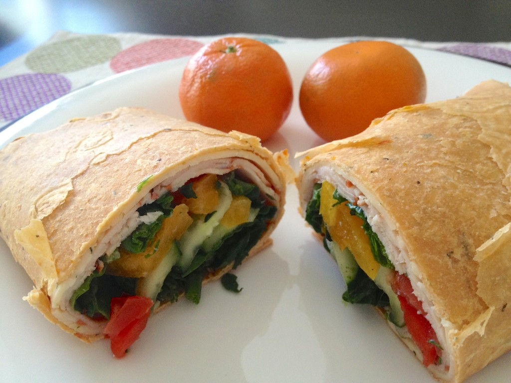 healthy lunch wrap