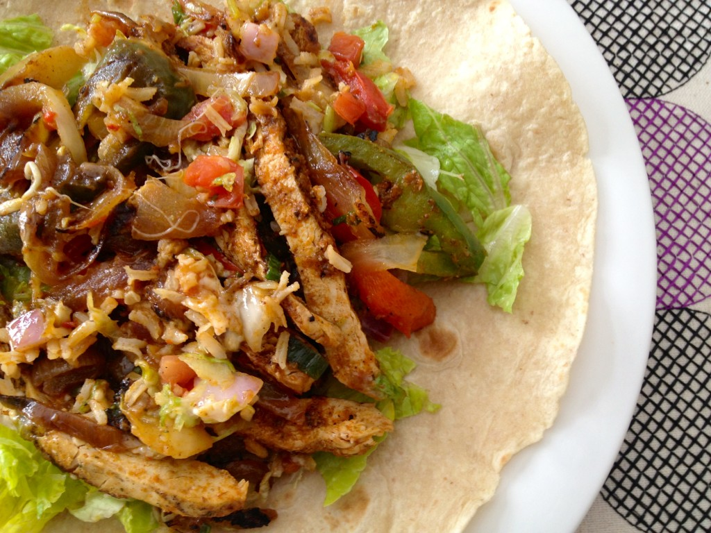 leftover fajitas add lettuce