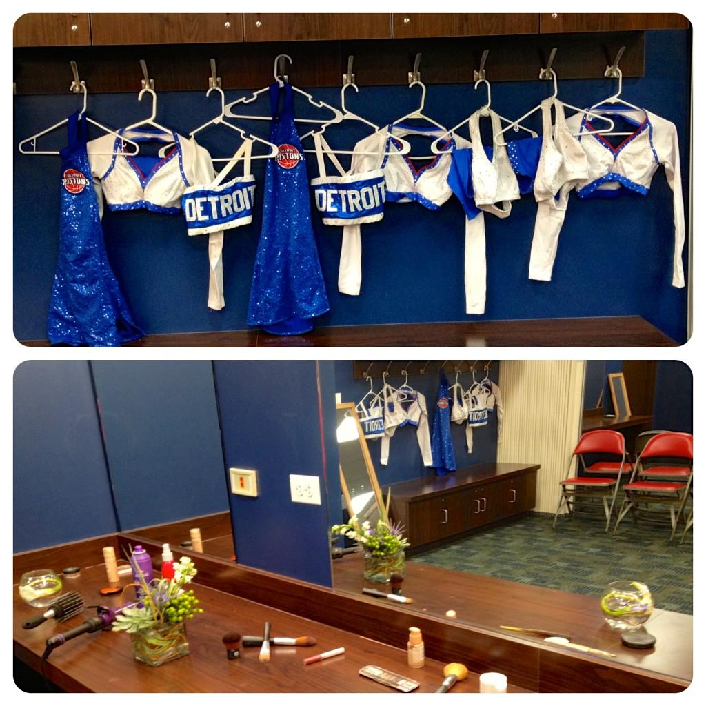 nba dancer locker room