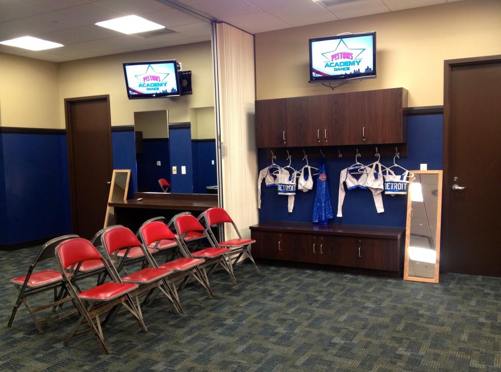 pistons dancers locker room