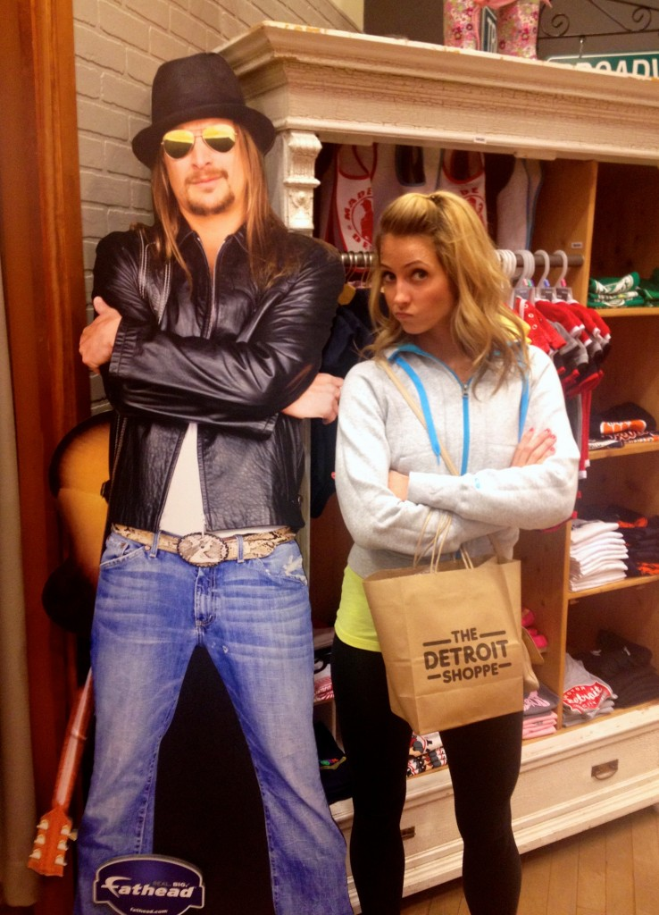 posing with Kid Rock