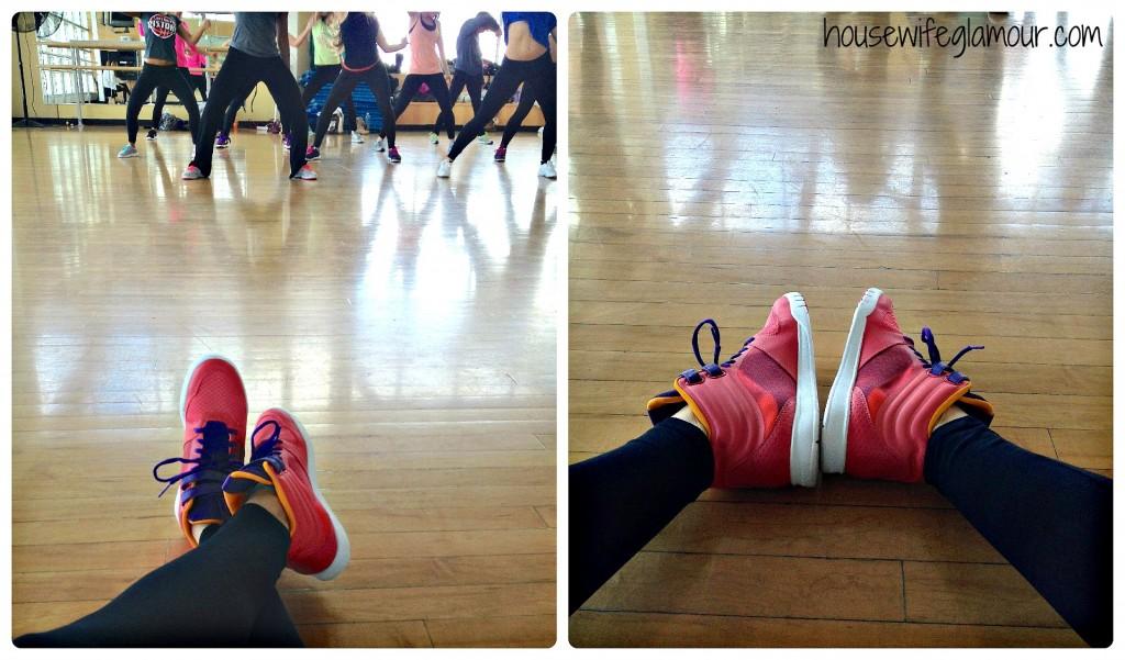 reebok dance sneaker collage