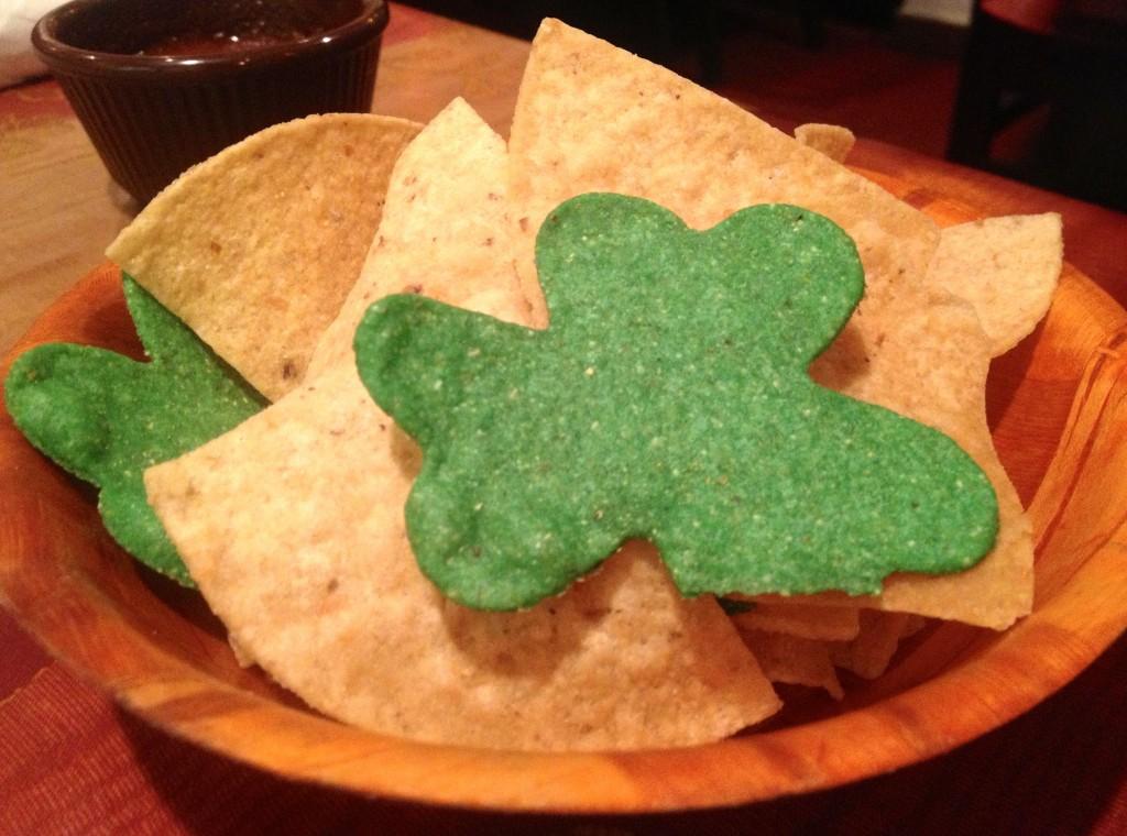 shamrock tortilla chips for st.