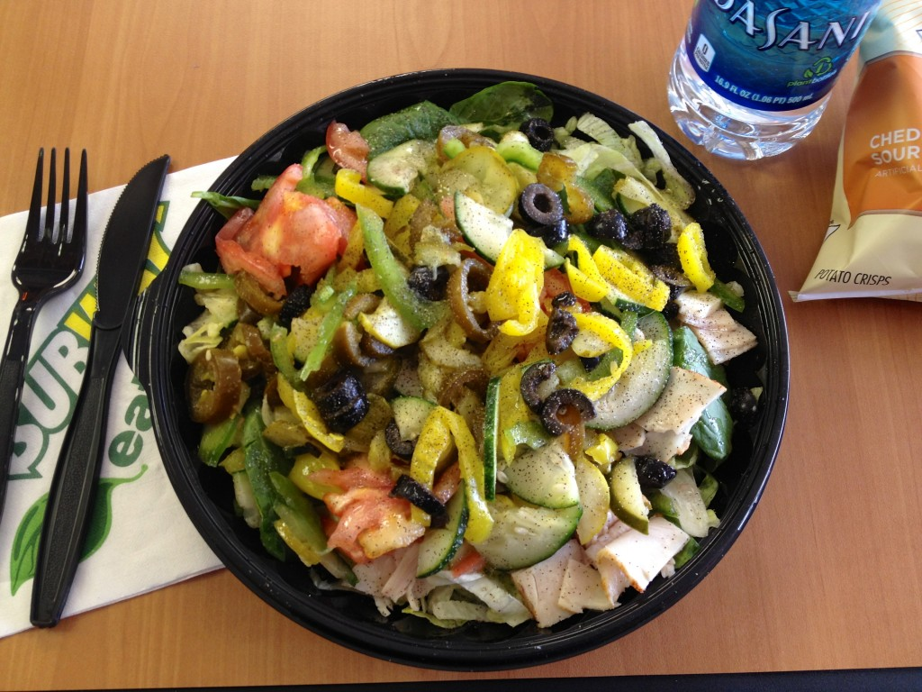 subway salad lunch