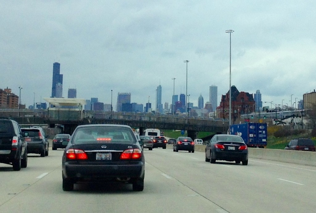 Chicago city traffic