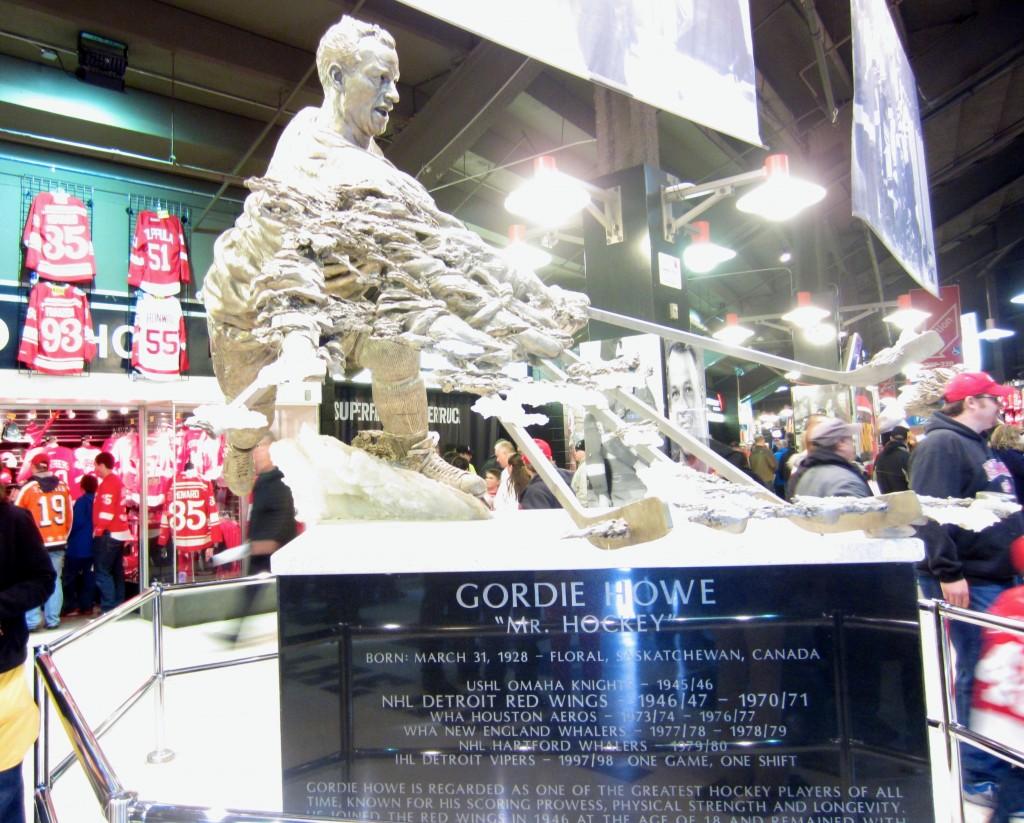 Gordie Howe Sculpture