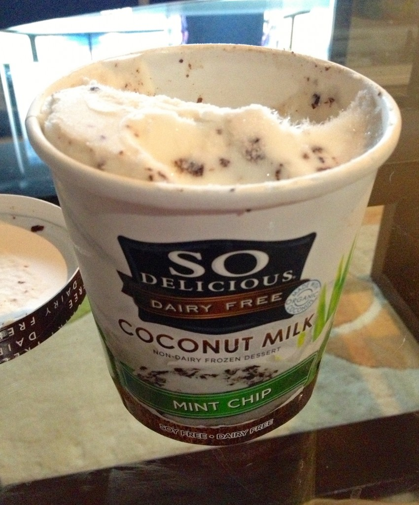 SO delicious mint chip soy dairy free ice cream