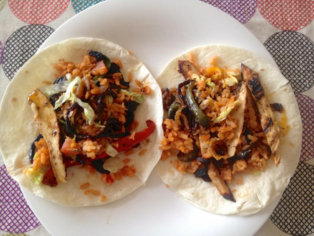 chicken fajita leftovers