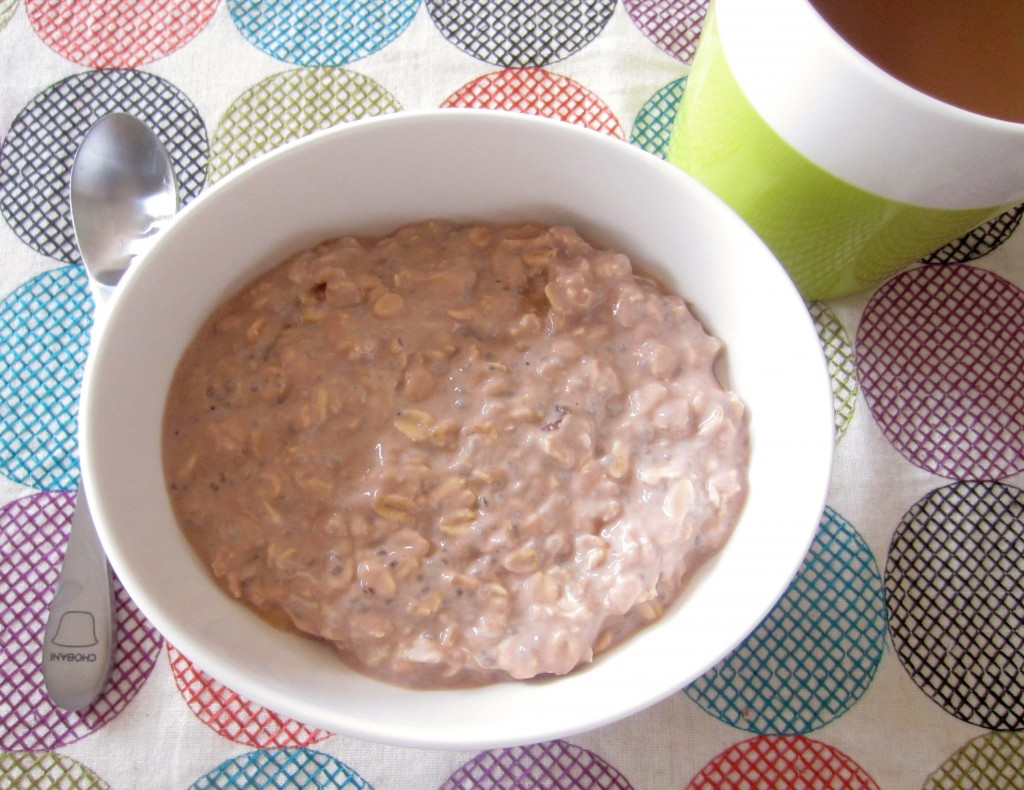 chocolate peanut butter banana overnight oats