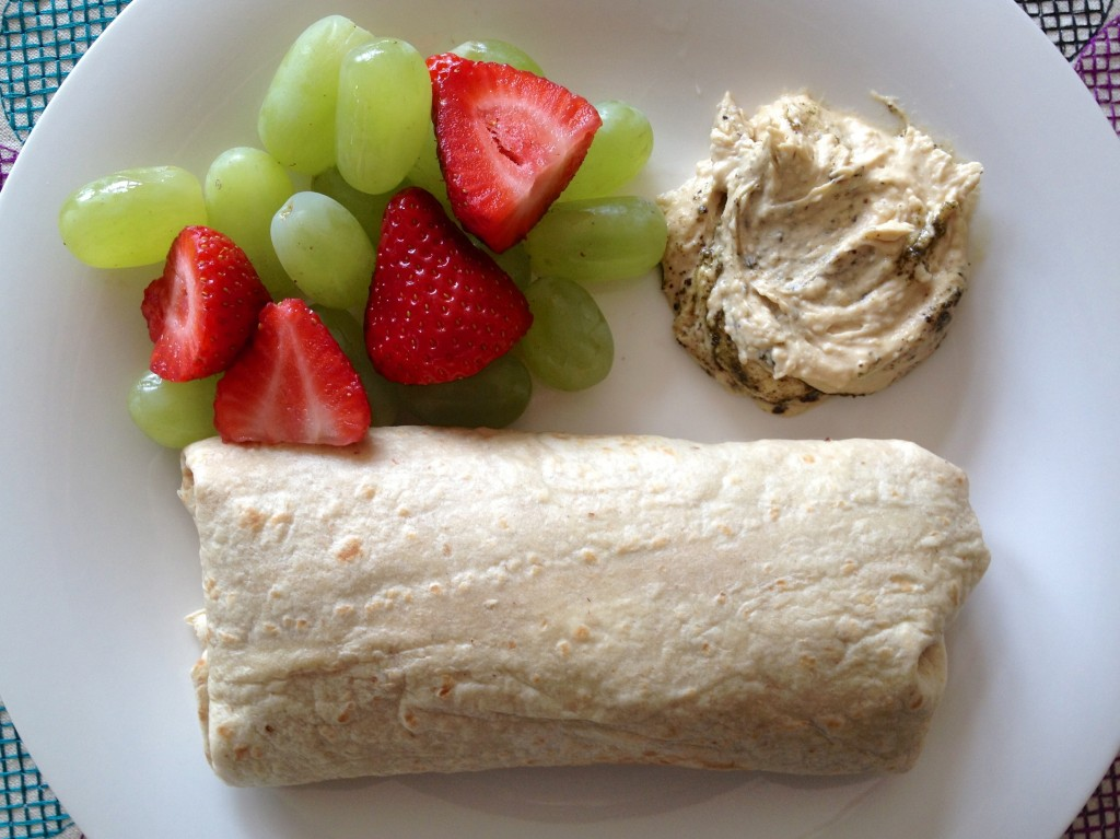 healthy lunch wrap #WIAW