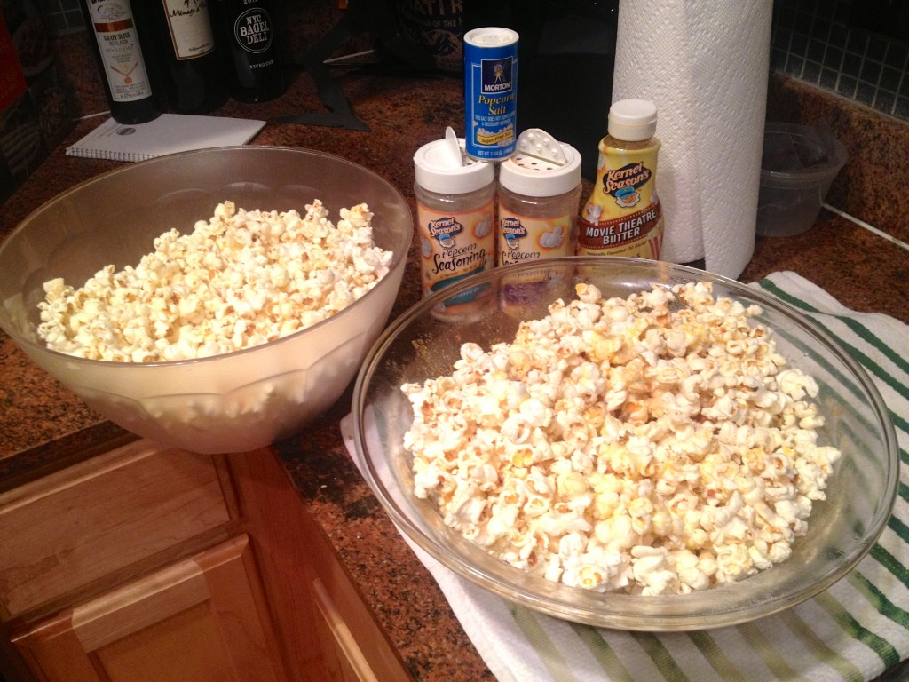popcorn and movie night