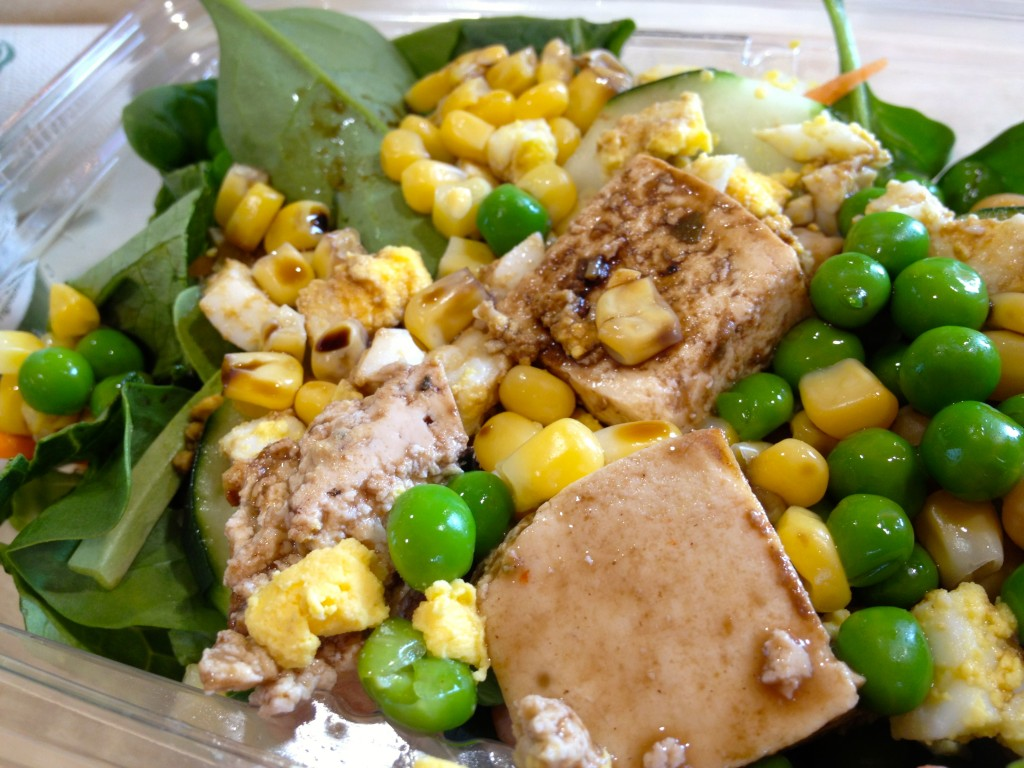 whole foods salad with tofu