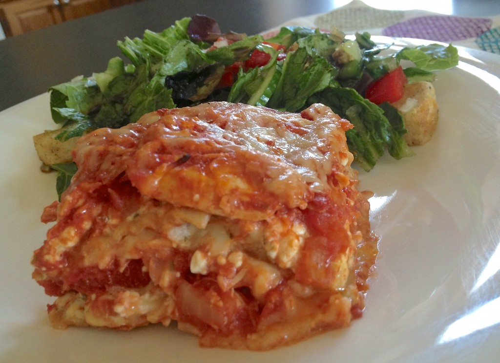 whole wheat low-fat lasagna