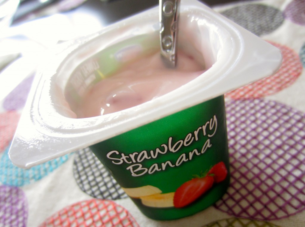Activia Strawberry Banana yogurt