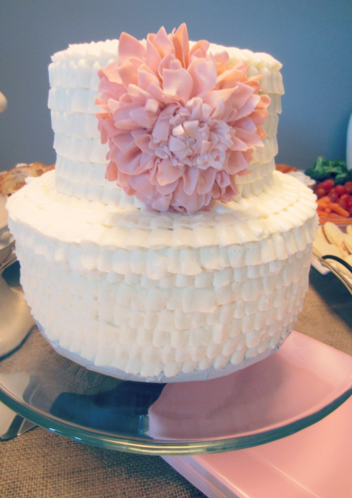 by Shower Cake with Flower