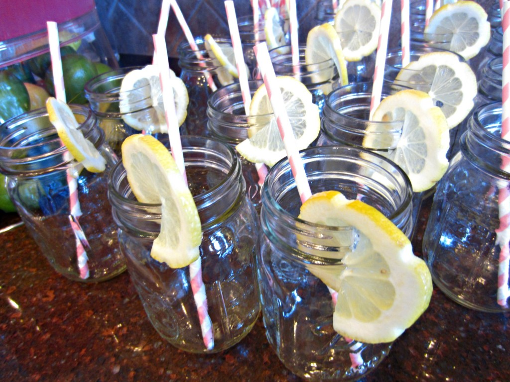 son Jars and striped straws