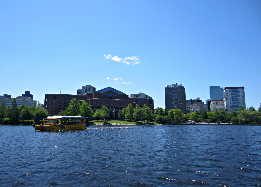 Duck Tour in water Boston
