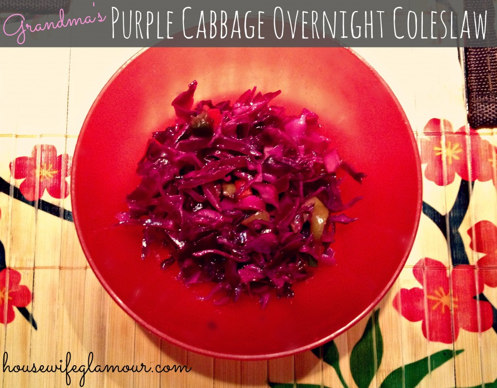 Grandma's Purple Cabbage Overnight Coleslaw